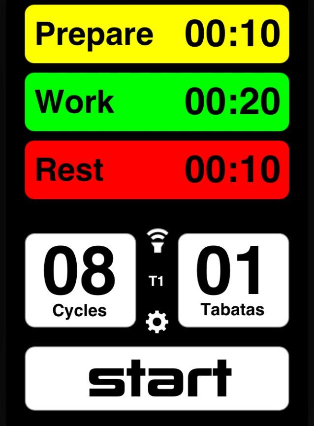 una aplicación de tabata timer