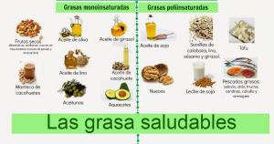 Ejemplos de grasas saludables